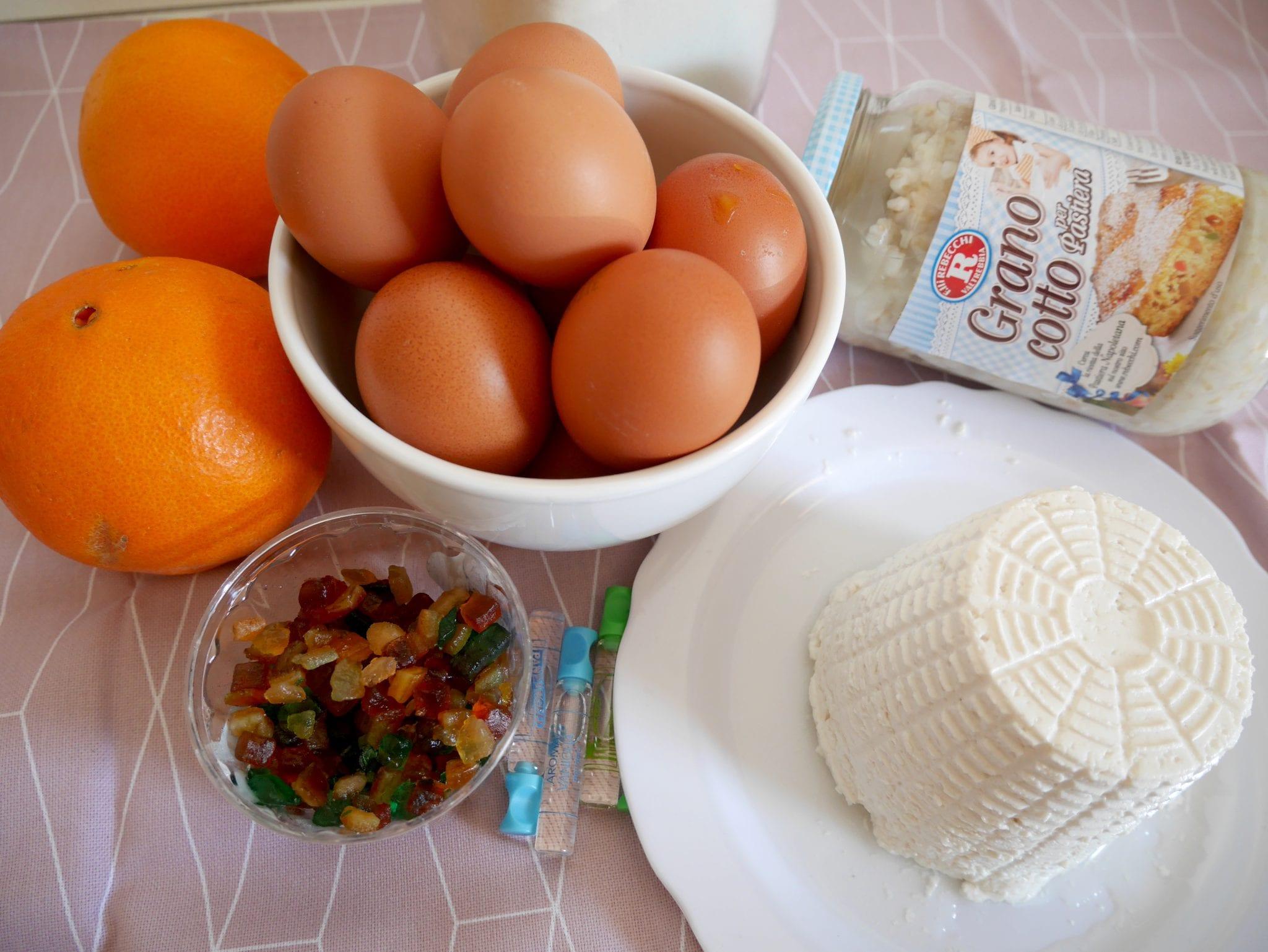 ingredienti due pastiera napoletana - Le Plume Bake Challenge