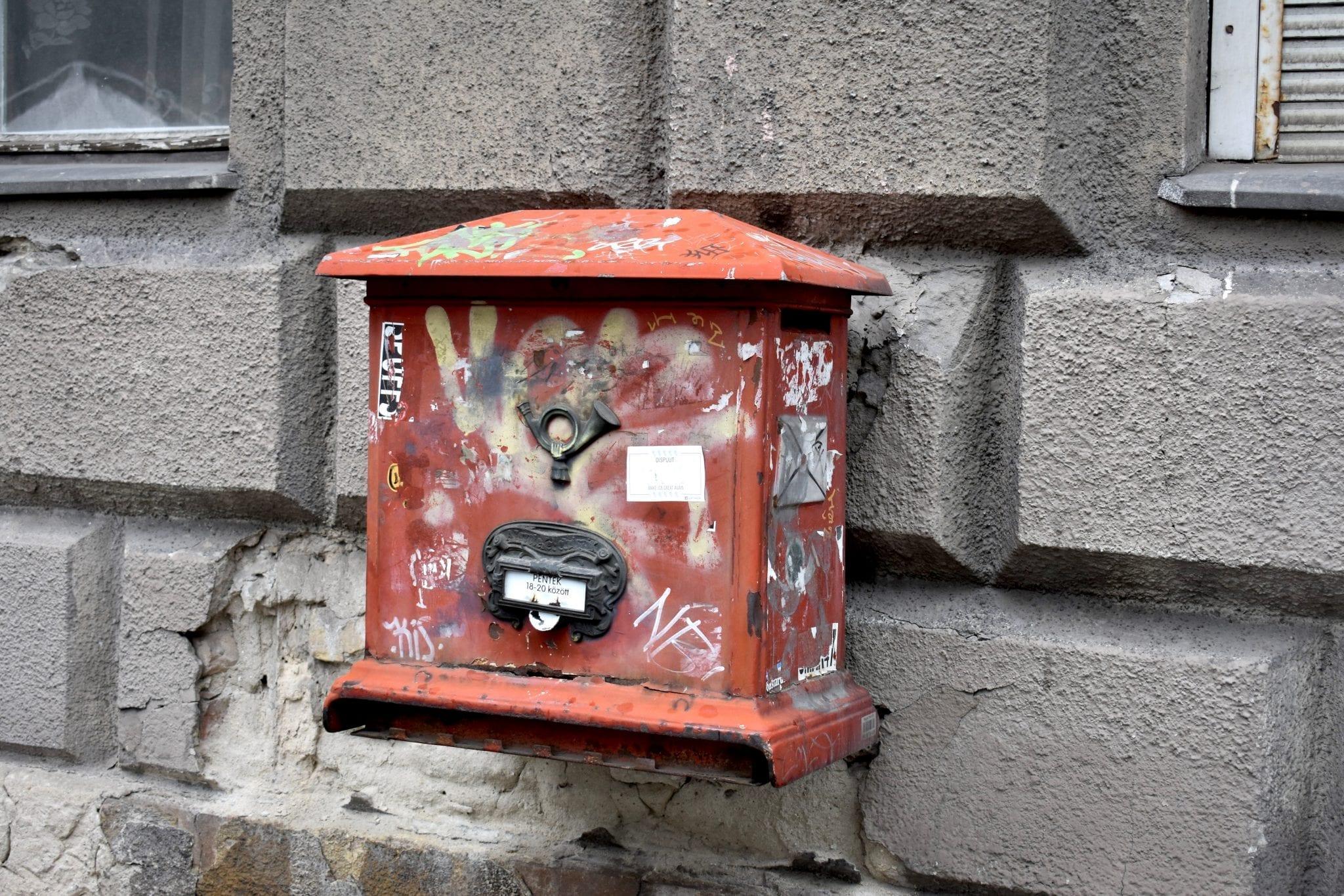 cassetta delle lettere - Budapest - Le Plume