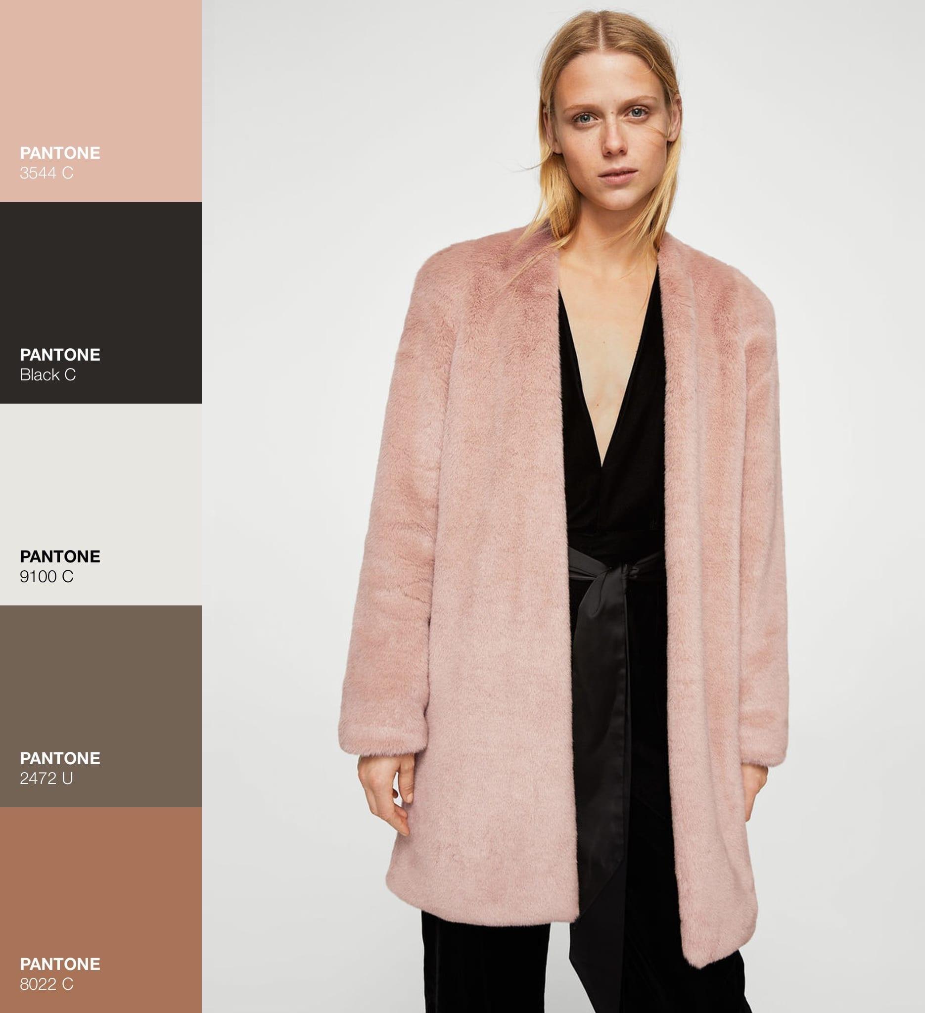 Cappotto Mango - Pink -Rosa Le Plume